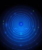 мяч глаз с фоном технологии человеческого face.abstract синий — Cтоковый вектор