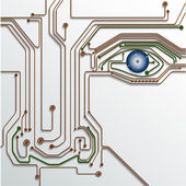 Illustration Blue abstract technology circuit background — Stockvektor
