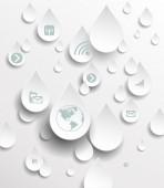 Icon in rain drops.Cloud computing concept. — Stock Vector