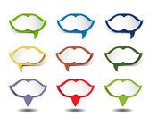 форма губ в документ речи пузырь. — Cтоковый вектор