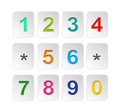 Colour Numbers set .Vector illustration. — Stock Vector