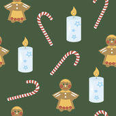 The background image candle, cookies, candy — Vector de stock