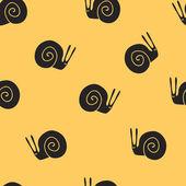 Seamless pattern snail — Stock Vector