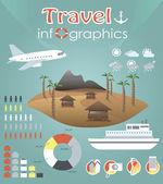 Infografías de viajes — Vector de stock