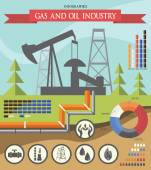Gas and oil industry infographic — Stock Vector
