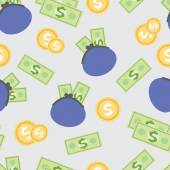 Seamless pattern with the image of wages, money — Stockvector