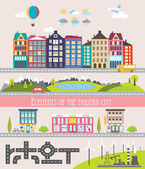Different city elements for creating your own map — Stock Vector