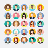 Big set of avatars profile pictures flat icons — Wektor stockowy