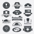 Retro restaurant vintage Insignias or logotypes  set — Stock Vector #62060987
