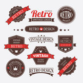 Retro Vintage Insignias or Logotypes set — Stock vektor