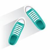 Draufsicht auf sneakers — Stockvektor