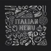 Restaurant cafe italian menu. — Stock Vector