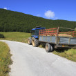 Tractor on the side of a road — Stock Photo #55448193