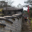 Castle wall road of Hwaseong Fortress, South Korea — Stock Photo #52687711