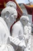 72 volgelingen standbeelden van confuciaanse tempel in nagasa — Stockfoto