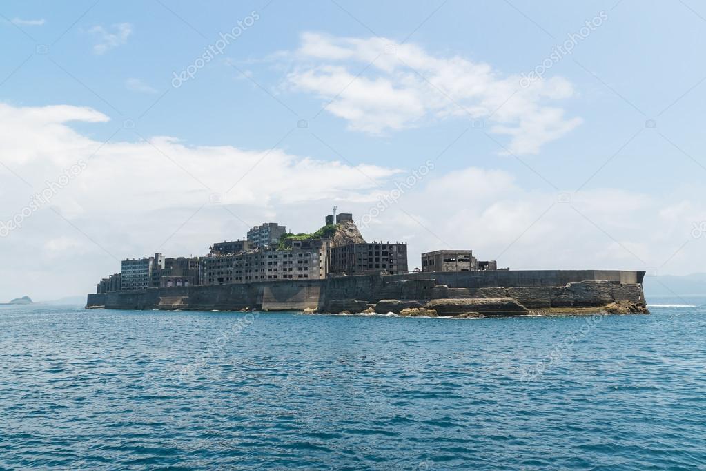Gunkanjima (ilha hashima) em nagasaki, Japão — Fotografias de Stock © motive5...