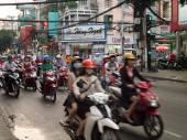 Evening Commuter Rush in Ho Chi Minh, Vietnam — 图库照片