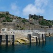 Dolphon Pier of Gunkanjima (Hashima) — Stock Photo #69375115
