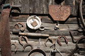 Old rusty tools — Stock Photo