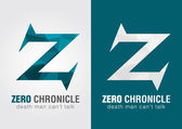 Z Zero Chronicle icon symbol from an alphabet letter Z. — Stock Vector