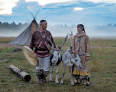 Wedding ceremony of the Northern peoples — Stock Photo