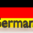 Writing Germany made in front of a german flag — Stock Photo #57998523