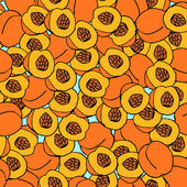 Peach seamless pattern. — Stock Vector
