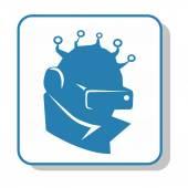 Techno icon - video surveillance. — Stock Vector