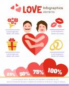 Love infographics. Design elements. Valentine's Day. Date. — Stock Vector