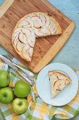 Creamy Apple Pie — Stock Photo