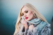 Heated scarf — Stock Photo