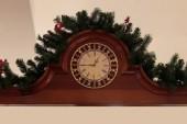 Wooden retro clock. — Stok fotoğraf
