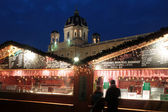 Christkindlmarkt near the statue of Empress Marie-Theresa — Stock Photo