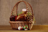 Traditional Easter basket — Stock Photo