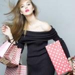 Beautiful shopping girl — Stock Photo #69856603