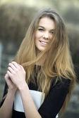 Portrait of a pretty young woman — Stok fotoğraf