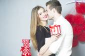 Romantic couple of young people — Stock Photo