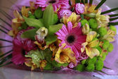 Variegated summer spring bouquet — Stock Photo