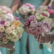 Wedding bouquets of roses — Stock Photo #79409158