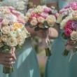 Beautiful bouquets of roses — Stock Photo #79523882
