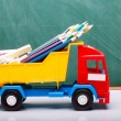 Colorful school stationary and car — Stock Photo #80965414