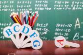 School colorful stationary — Стоковое фото