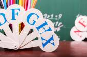 School colorful stationary — Stock Photo