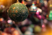 Green Christmas bauble — Stock Photo