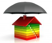 Energy Efficiency Chart with Insurance — Stock Photo