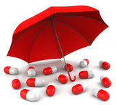 Capsules with Umbrella — Stock Photo