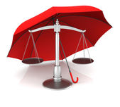 Scale and Umbrella — Stock Photo