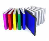 Books in Tablet PC — Stock Photo