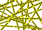 Caution Cordon Tape — Stock Photo