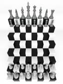 Futuristic Chessboard — Stock Photo